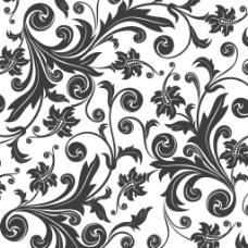 矢量欧式花纹背景