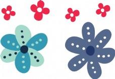 花朵 可爱卡通动物人物矢量素材