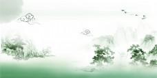 水墨中国风风景画素材