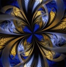 分形艺术花纹背景图片