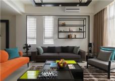 现代简约沙发背景墙设计图
