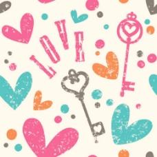 love爱心背景素材