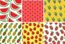 清新可爱手绘水果背景