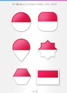 摩纳哥国旗图标