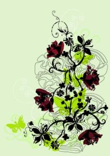 花卉花纹背景图案