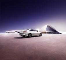 梅赛德斯-奔驰商业海报背景