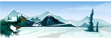 矢量雪山风景EPS