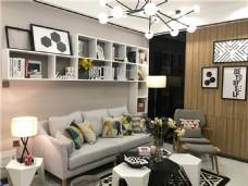 现代时尚沙发背景墙设计图