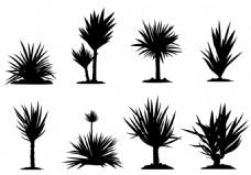 矢量树木图标设计