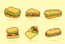 汉堡三明治图标