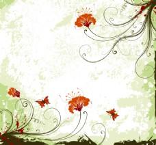 矢量花卉装饰背景