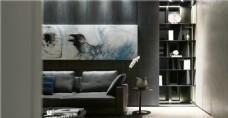 简约客厅沙发背景墙设计图