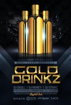 黄金DRINKZ宣传单模板