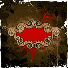 复古花纹装饰背景