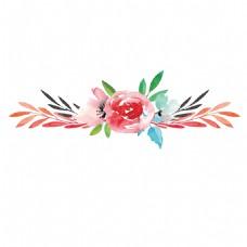 手绘粉色花朵高清装饰素材