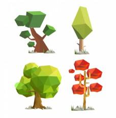 多边形立体树木