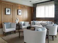 港式时尚客厅沙发背景墙设计图