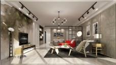北欧风格时尚客厅沙发设计装修效果图