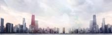 城市光线企业商务商业海报背景设计