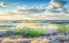 大海边蓝天风景