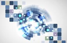 未来科技蓝白色背景