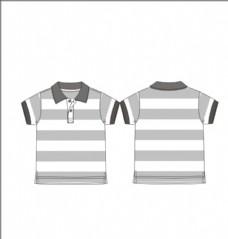 男童短袖条纹T恤