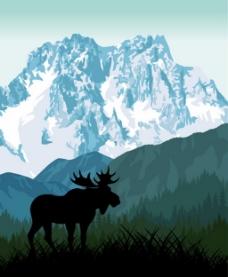 雪山背景素材