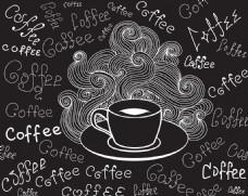 黑色咖啡杯背景