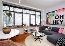 现代创意客厅沙发背景墙设计图