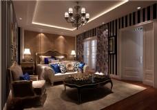 欧式时尚卧室沙发背景墙设计图