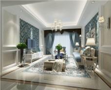 欧式时尚客厅茶几沙发设计图
