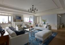 美式时尚客厅沙发背景墙设计图