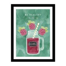 创意健康果汁挂画矢量素材