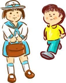 小学生插画