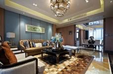 时尚茶几沙发背景墙设计图
