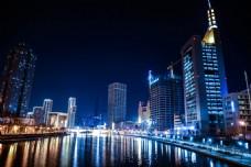 天津海河夜景