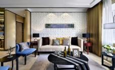 现代时尚客厅茶几沙发背景墙设计图