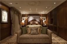 美式时尚卧室沙发背景墙设计图