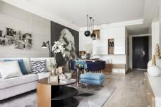 现代简约客厅沙发背景墙设计图