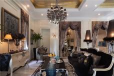 时尚客厅茶几沙发背景墙设计图