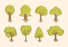 手绘树木插画