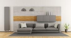 灰色沙发效果图图片1