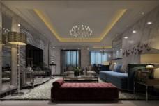 欧式客厅沙发背景墙设计图