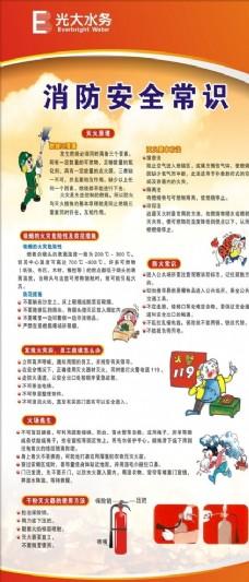 消防安全常识展架