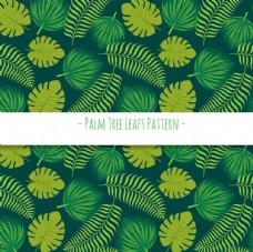 绿色棕榈叶装饰图案