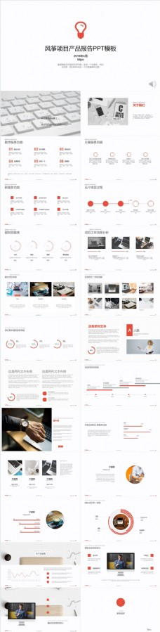 风筝项目产品报告PPT模板