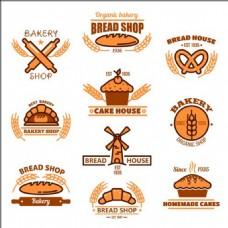 面包图标背景素材