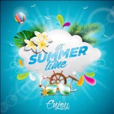 夏天度假广告
