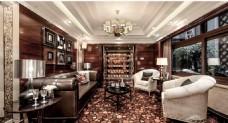 时尚客厅沙发背景墙效果图