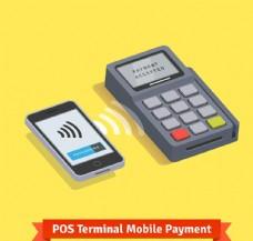 POS机终端手机支付矢量